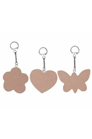 Wooden Key Chains - Large (Pack of 10)