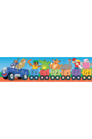 Aussie Alphabet Road Train Large Border - Victorian Modern Cursive