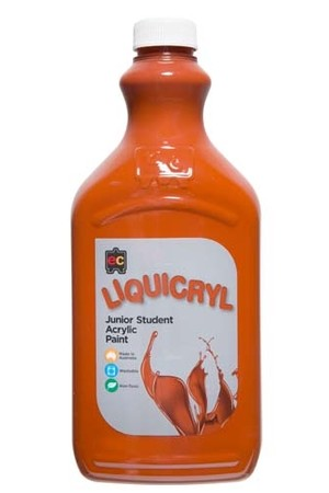 Liquicryl Junior Acrylic Paint 2L - Burnt Sienna