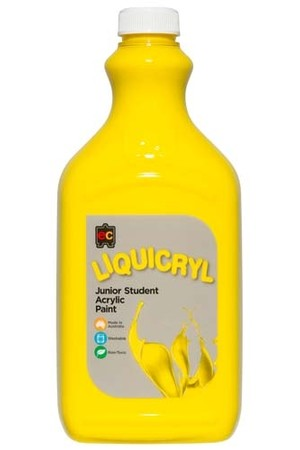 Liquicryl Junior Acrylic Paint 2L - Brilliant Yellow