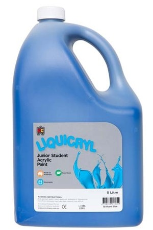 Liquicryl Junior Acrylic Paint 5L - Brilliant Blue
