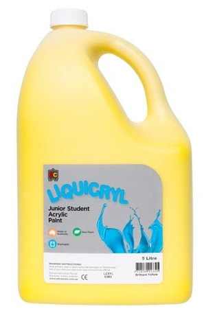Liquicryl Junior Acrylic Paint 5L - Brilliant Yellow