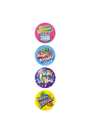 Happy Birthday Large Merit Stickers
