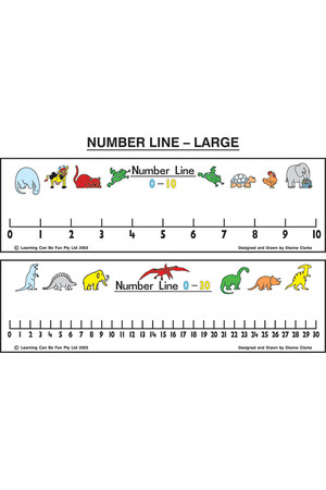 Large Number Line 0-30 & Pen