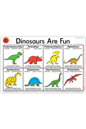 Dinosaurs Are Fun Placemat