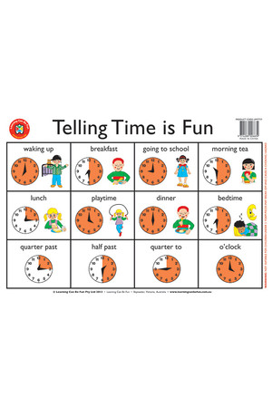 Telling the Time is Fun Placemat