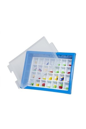 Letter Storage Tray Set - Light Blue