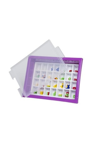 Letter Storage Tray Set - Purple