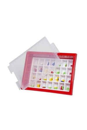 Letter Storage Tray Set - Red
