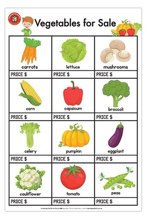Vegetables for Sale Poster