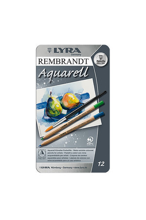 LYRA Rembrandt Aquarell Water-Soluble Pencils - Tin of 12