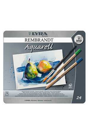 LYRA Rembrandt Aquarell Water-Soluble Pencils - Tin of 24
