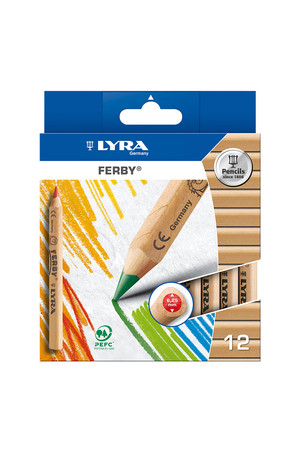 LYRA Ferby Nature Coloured Pencils - Pack of 12