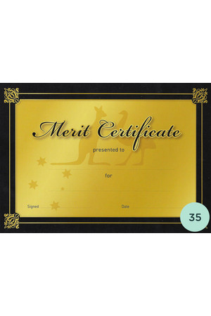 Gold Merit Certificate - Pack of 35