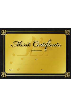 Gold Merit Certificate - Pack of 20 Cards