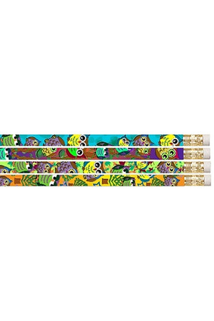 Owls & Frogs Pencils - Pack of 10