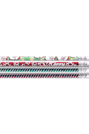Christmas Glitters Pencils - Pack of 10