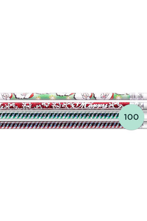 Christmas Glitters Pencils - Box of 100
