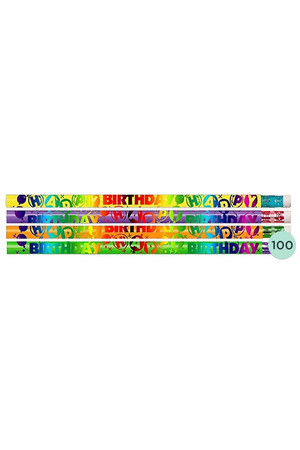 Happy Birthday Pencils - Box of 100
