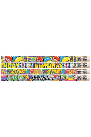 Happy Birthday Glitz Pencils - Box of 100