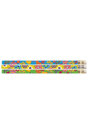 Hearts and Flowers Pencils - Pack of 10