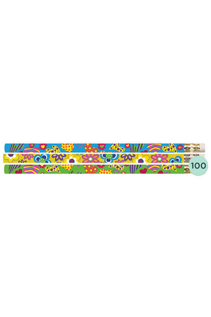 Hearts and Flowers Pencils - Box of 100