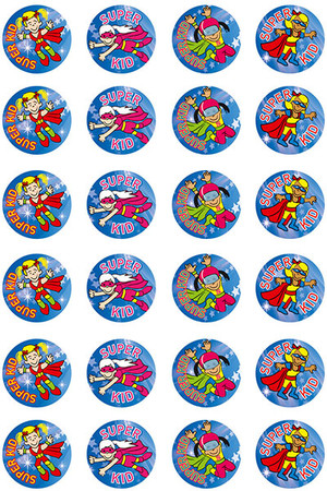 Super Kid (Girl) Merit Stickers