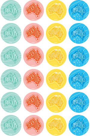 Amazing Australia Merit Stickers