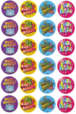 Birthday Merit Stickers