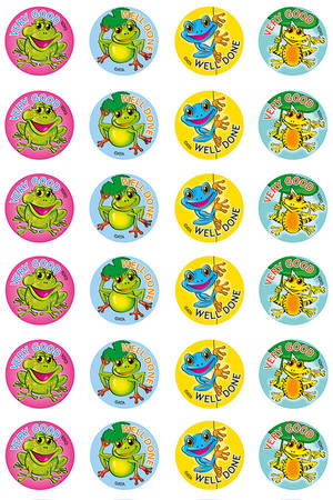 Frogs Merit Stickers
