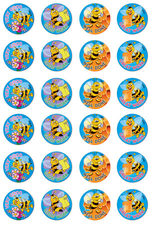 Bees Merit Stickers