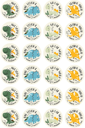 Dinosaurs Merit Stickers