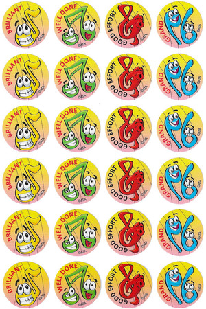 Music Merit Stickers
