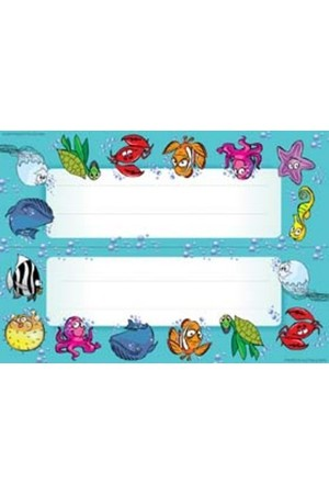 Sea Creatures Name Plate