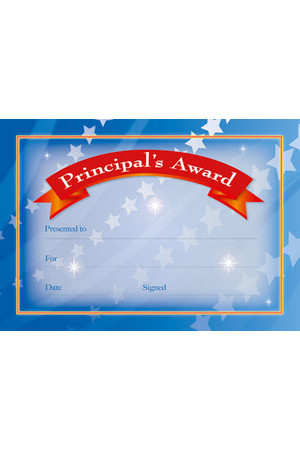 Principal's Award Certificates - Pack of 35