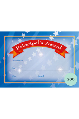 Principal's Award Certificates - Pack of 200
