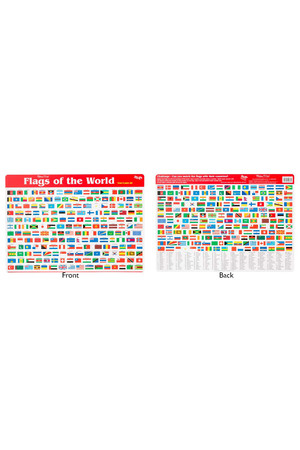 Flags of the World Double-Sided Placemat