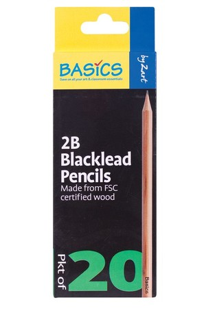 Basics - Blacklead Pencils (Pack of 20): 2B