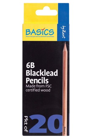 Basics - Blacklead Pencils (Pack of 20): 6B
