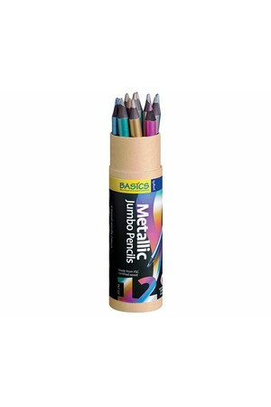 Basics - Jumbo Metallic Pencils (Pack of 12)