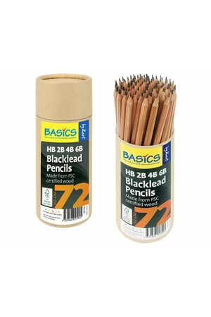 Basics - Blacklead Pencils: Assorted Grades (Pack of 72)