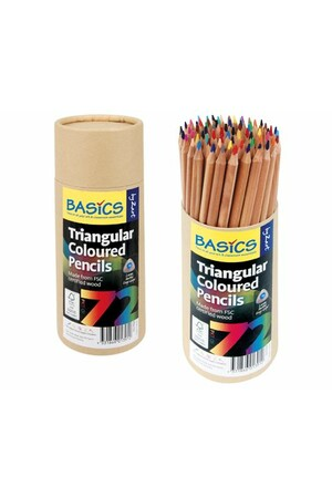 Basics - Triangular Colour Pencils (Pack of 72)