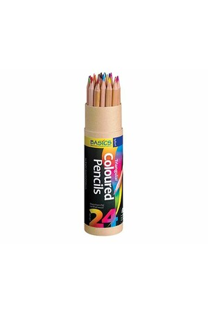 Basics - Triangular Colour Pencils (Pack of 24)