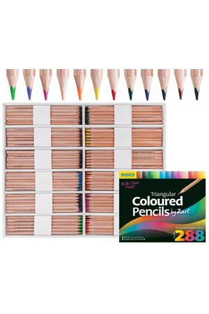 Basics - Triangular Colour Pencils (Pack of 288)
