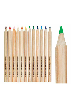 Basics - Jumbo Hexagonal Colour (Pack of 12)