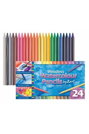 Zart - Woodless Watercolour Pencils (Pack of 24)