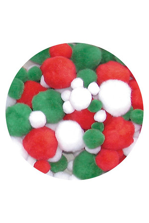 Pom Poms: Christmas Colours