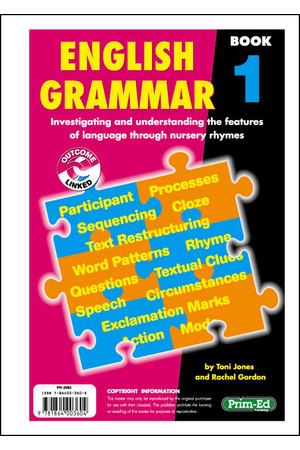 English Grammar - Book 1: Ages 5-6