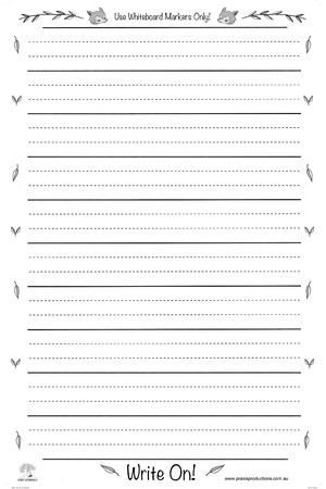 Write On - Large Laminated Dotted Thirds Chart