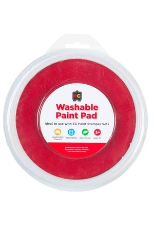 Paint Stamper Pad Red 15cm Diameter